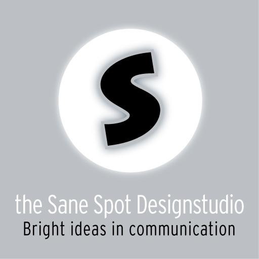 logo ontwerp en toepassing van the Sane Spot Designstudio