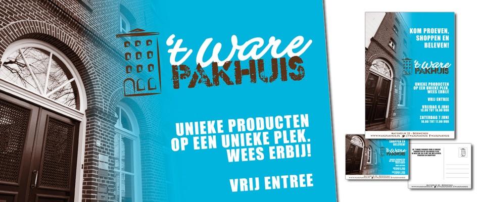 ontwerp-aankondigingsposter-en-postkaart-ware-pakhuis-uw-marketeer-gorinchem-door-the-Sane-Spot-Designstudio-the-Graphic-barista