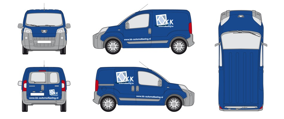 ontwerp-autobelettering-Peugeot-Bipper-K-en-K-Automatisering-the-Sane-Spot-Designstudio